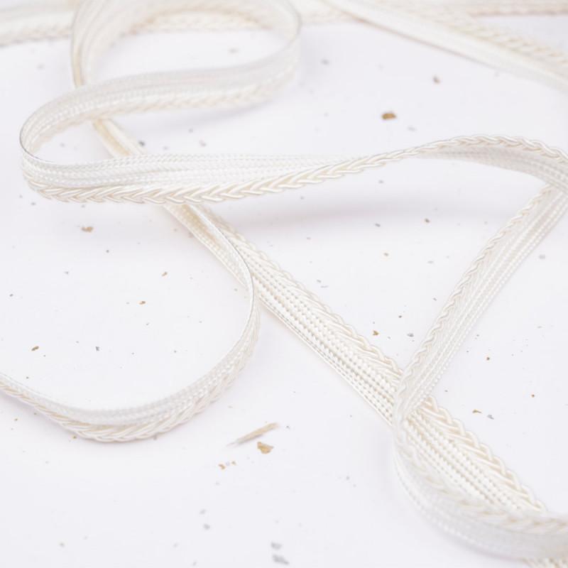 passepoil blanc cassé tressé - pretty mercerie - mercerie en ligne