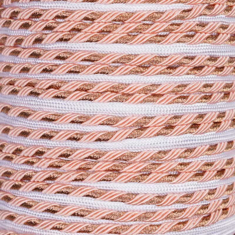 passepoil blanc et rose et cuivre - pretty mercerie - mercerie en ligne