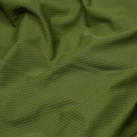 Tissu maillot de bain effet nid d'abeilles pesto x 10cm
