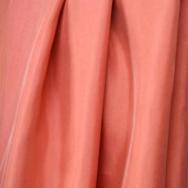 tissu cupro et coton corail épicé - pretty mercerie - mercerie en ligne