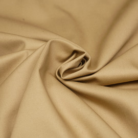 Tissu gabardine beige x 10cm