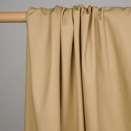 Tissu gabardine beige - pretty mercerie - mercerie en ligne