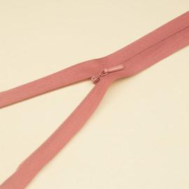 Fermeture éclair invisible non-séparable cèdre vieilli 25 cm  - pretty mercerie - mercerie en ligne