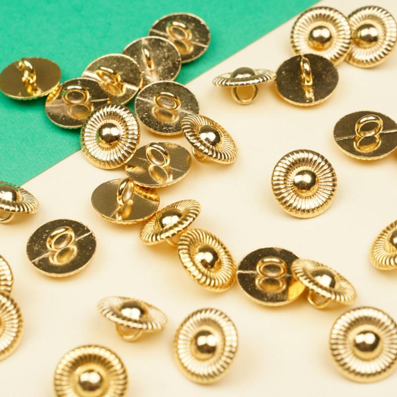 Bouton métal or jaune soleil aztèque 13 mm  - pretty mercerie - mercerie en ligne