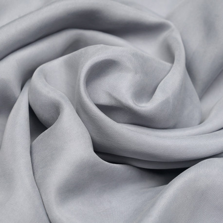 Tissu cupro et tencel sergé bleu perle  - pretty mercerie - mercerie en ligne