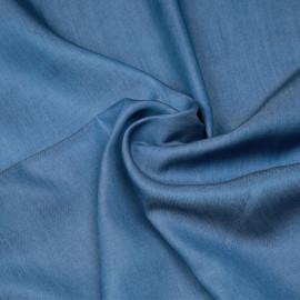 Tissu tencel effet denim bleu allure X 10 CM