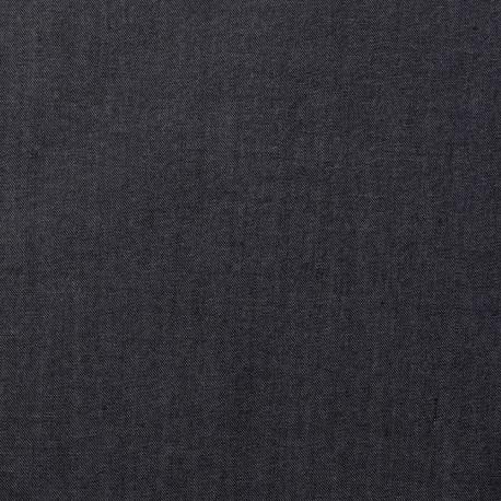 Tissu tencel effet denim bleu nuit - pretty mercerie - mercerie en ligne