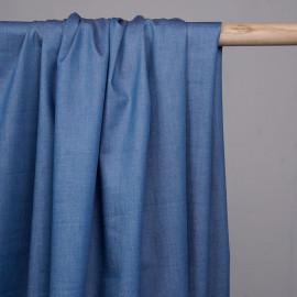 Tissu denim léger bleu riviera - pretty mercerie - mercerie en ligne