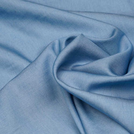 Tissu tencel effet denim bleu cerulean X 10 CM
