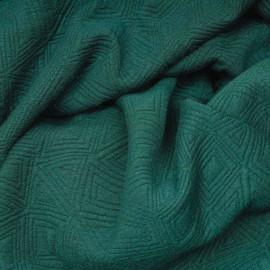 Tissu matelassé vert émeraude motif déstructuré x 10cm