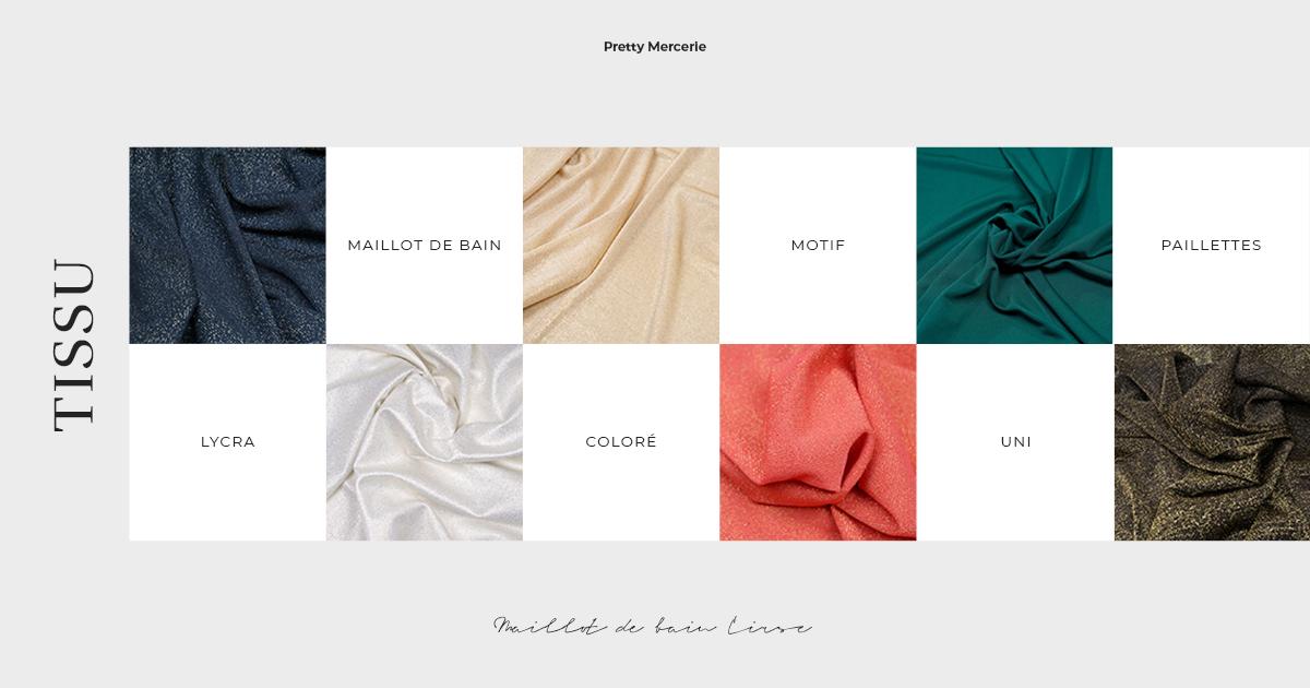 tissu patron de couture maillot de bain Cirse pretty mercerie