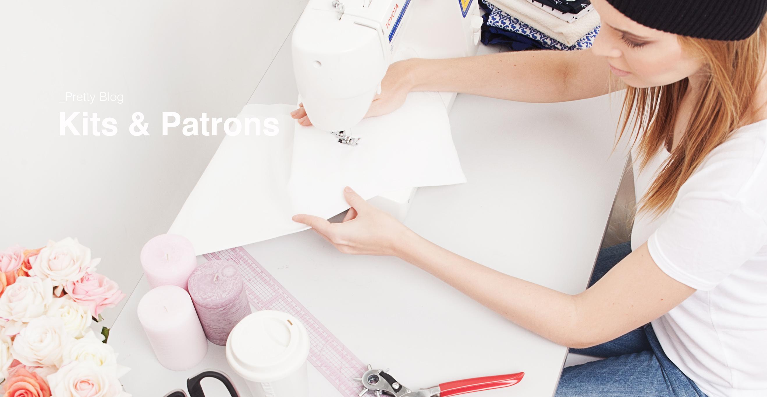 Kit couture personnalisé - Pretty Mercerie - Mercerie en ligne - Tissus en ligne - patron de couture