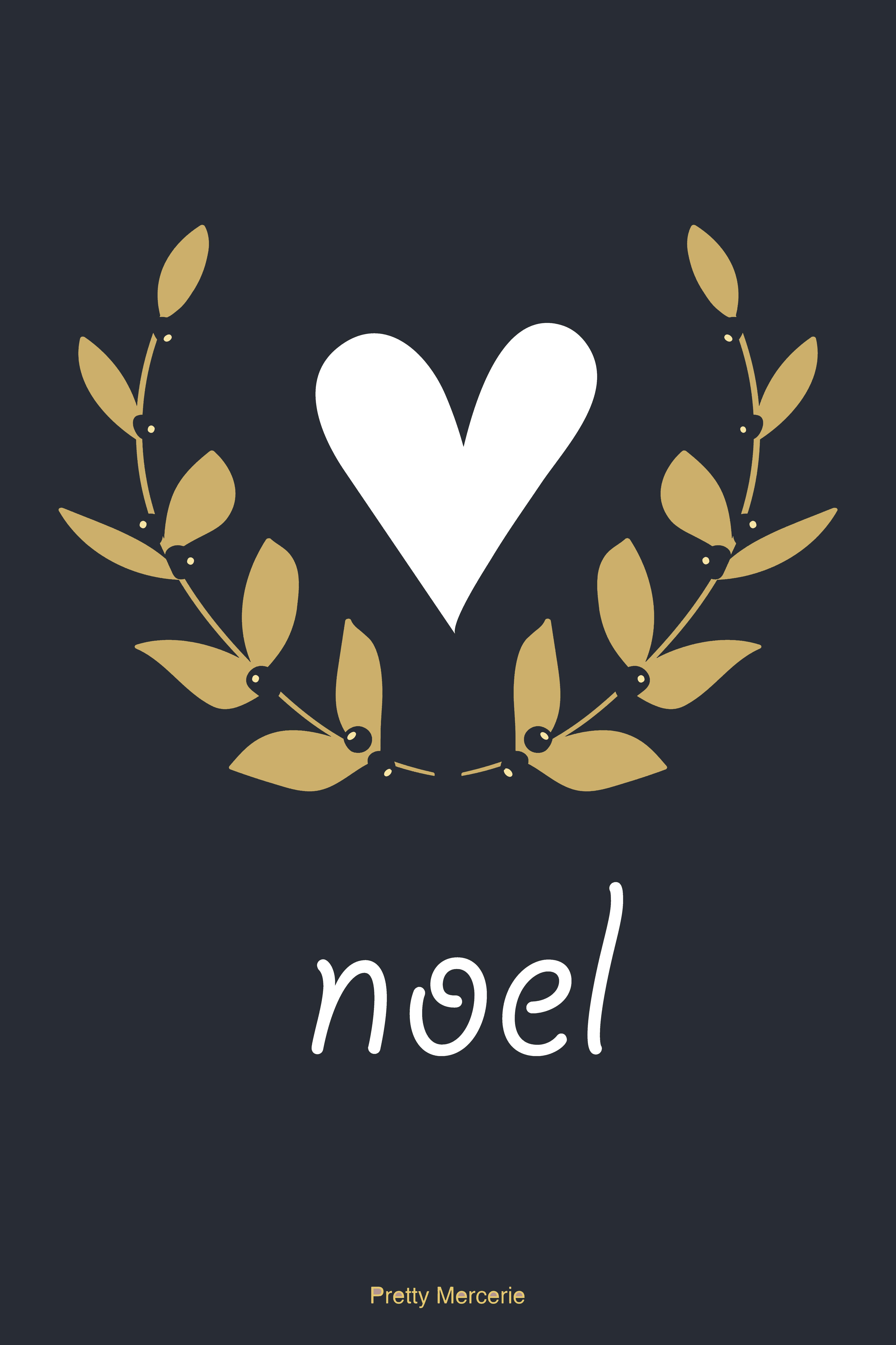 carte - noel- pretty - mercerie