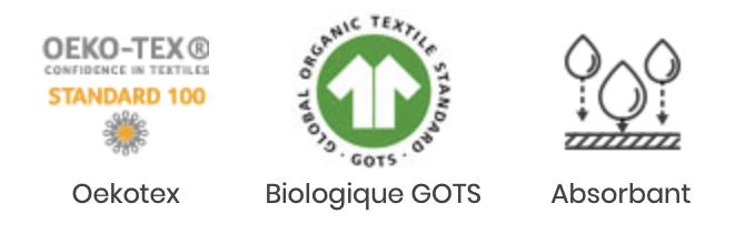 Tissu éponge de coton biologique certifié GOTS