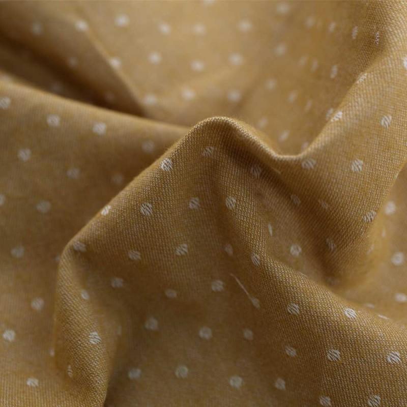 Pretty Blog - tissu coton tissé jaune ambre - Blog couture - Pretty Mercerie