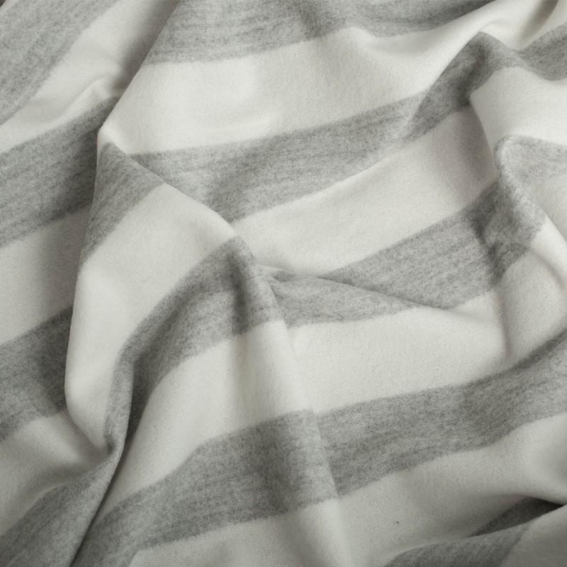 Pretty blog - tissu laine rayé blanc et gris - Blog Couture - Pretty Mercerie
