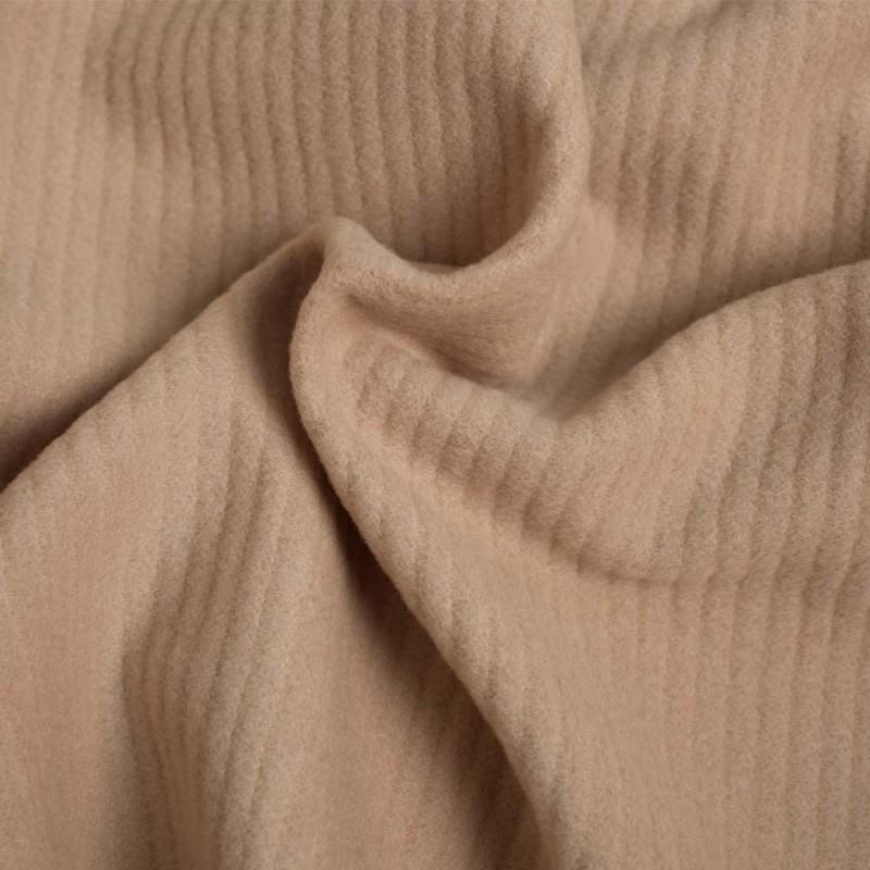 Pretty Blog - Tissu laine et angora sable - Blog couture - Pretty Mercerie